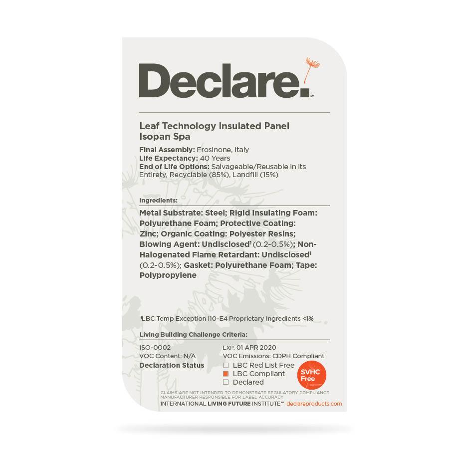 Trasparenza in edilizia con l'etichetta Declare